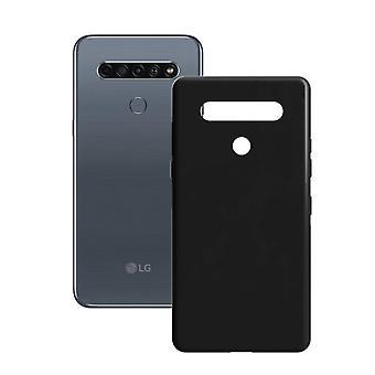 غطاء المحمول LG K61 الاتصال الحرير TPU الأسود