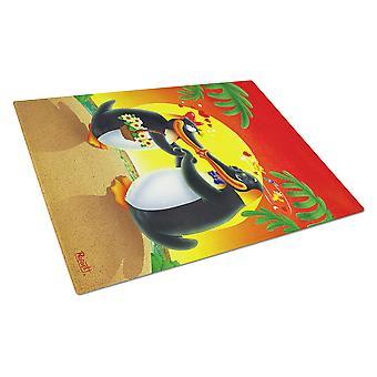 Caroline's Treasures Aph0245Lcb In Love Valentine's Day Penguins Tagliere in vetro, grande, multicolore