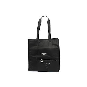 Gaëlle Shopper Women's Bag With Black Faux Leather Clutch Bs21ge02 Gbda2170