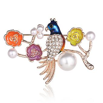 Lovely Ladies Brooch Colorful Corsage Pearl Jewelry Brooch Pin