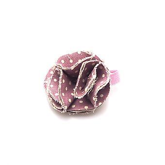 Dog collar flower accessory  - lavender  spot