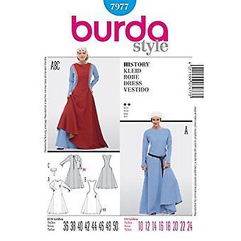 Burda Ompelu kuvio 7977 Burda Tyyli, Historia mekko, naamiaispuku,