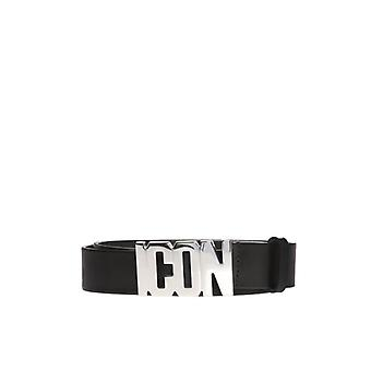 Dsquared2 Icon Black Leather Belt
