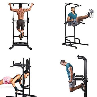 Home gym equipment pull up bar dip station with power tower