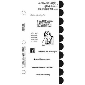 Stampers Anonymous Stamp Set - She Spoke Of Art