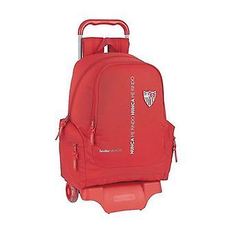 School Rucksack with Wheels 905 Sevilla Fútbol Club Red