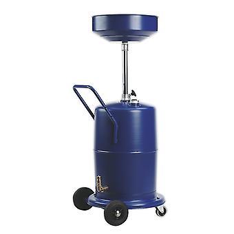 Sealey Ak450Dx Mobile Oil Drainer 75Ltr Pump Away
