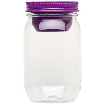 salatschachtel Mason 1,2 Liter 17,8 cm violett/transparent