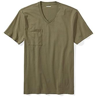 "Goodthreads Men's ""The Perfect V-Neck T-Shirt"" Short-Sleeve Cotton, Olive, La..."
