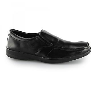 Fleet & Foster Alan Mens Leather Shoes Black