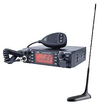 CB PNI ESCORT HP 9001 PRO ASQ 12/24 Radio Station Kit + CB PNI Extra 45 Antenne avec aimant