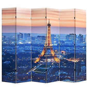 vidaXL huoneenjakaja taitettava 228 x 170 cm Pariisi yöllä