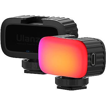 """FengChun VL15 Mini RGB LED Licht Wiederaufladbare Kleine Kamera Videolichtfarbe Kaltem Schuh 1/4"""""""
