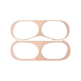 エアポッドプロメタルメッキインナーカバー防塵ステッカー用保護スキンケース