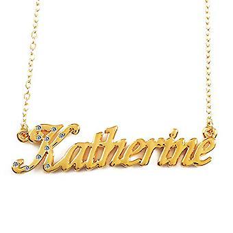 """L Katherine - 18 karaattinen kullattu kaulakoru, säädettävä ketju 16""""- 19"""", Regal Packaging"""