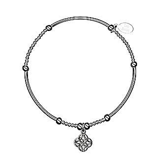Bracelet empilable de nouilles celtiques - 17.5cm - Argent - Cadeaux de bijoux pour femmes de Lu Bella