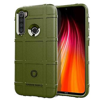 Tpu carbon fibre case for redmi note 8 green mfkj-1260