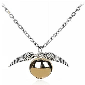 Potter Gold Pirate Snitch Gold Necklace