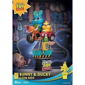 Disney Coin Ride Series D-Stage PVC Diorama Bunny & Ducky 16 cm