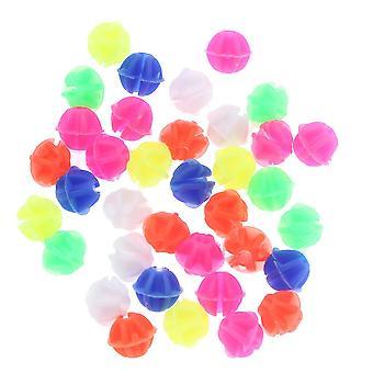 36 stuks ronde fiets wiel spaak kralen lichtgevende plastic clip spaak kralen draad kralen decoraties