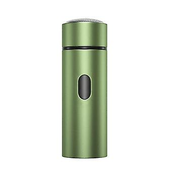 Portable Men's Electric Shaver,USB Rechargeable Beard Trimmer(Green)
