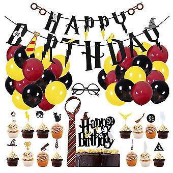 49pcs حفلة عيد ميلاد الأطفال الديكور، هاري بوتر موضوع الطرف الديكور