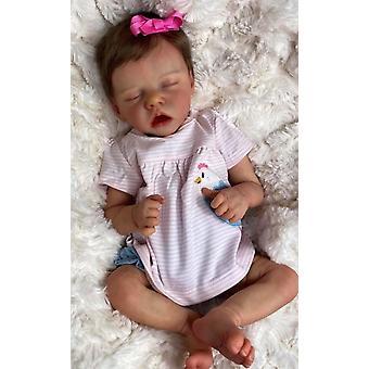 45cm herboren premie baby pasgeboren pop twina baby meisje gedetailleerde hand schilderij echte zachte aanraking knuffelige baby collectible kunst pop