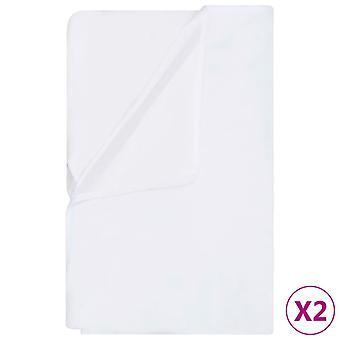 vidaXL mattress protector 2 pcs. Waterproof cotton 200x200 cm White