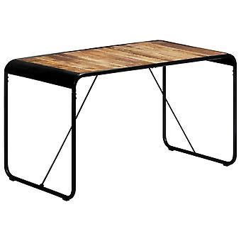 vidaXL طاولة الطعام 140 × 70 × 76 سم الخام المانجو الخشب الصلب