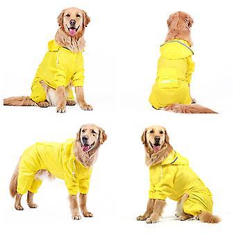 Manteau de pluie dog imperméable à la combinaison pour chiens Manteau d'animal de compagnie Labrador Imperméable à l'eau