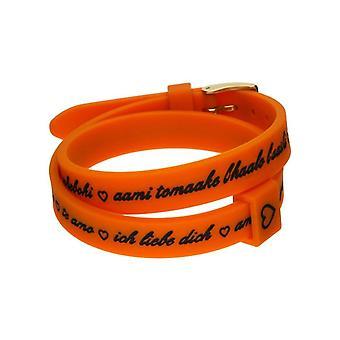 Il mezzometro i love you gold silicone bracelet  bmg1710