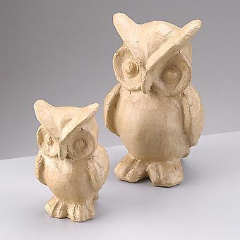 14cm Papier Mache Owl à Décopatch et Décorer Papier Mache