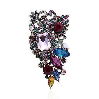 Elegáns női bross színes fűző színes gyémánt intarid bross pin