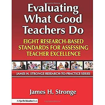 Bewerten, was gute Lehrer tun: Acht forschungsbasierte Standards zur Bewertung der Exzellenz von Lehrern