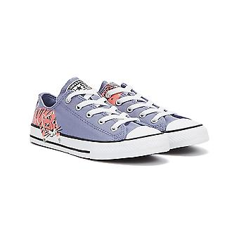 Converse Chuck Taylor All Stars Low Top Junior Slate Lilac / White / Pink Salt Trainers