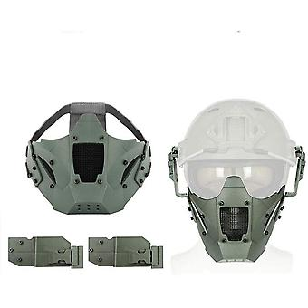 Aoutacc Airsoft Half Face Mask Steel Mesh for CS/Hunting/Paintball/Shooting