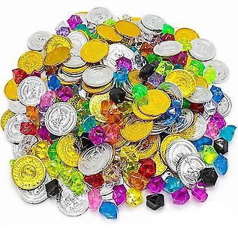 Children Pirate Gold Coin Gemstone Series- Activity Draw Props''s Game PropsChildren Pirate Gold Coin Gemstone Series- Activity Draw Propss Game Props.  Specifications: Material: Plastics Craft: Handwork Types of Props: Plastic Gold Coins