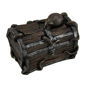 Poulpe Escape décoratifs Deep Sea Treasure Chest Trinket Box
