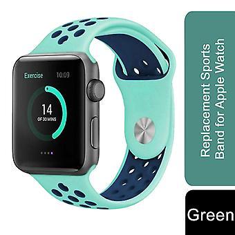 Vervangende sportband voor Apple Watch - 42mm -Groen
