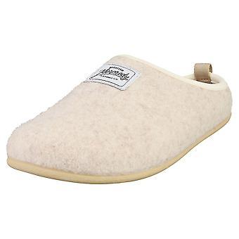 Mercredy Slipper Cream Womens Slippers Shoes in Cream