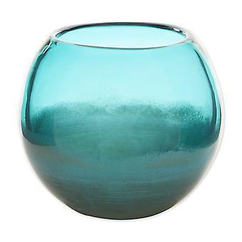 Accent Plus Fish Bowl Style Vase - Aqua Gradient 5 inches, Pack of 1