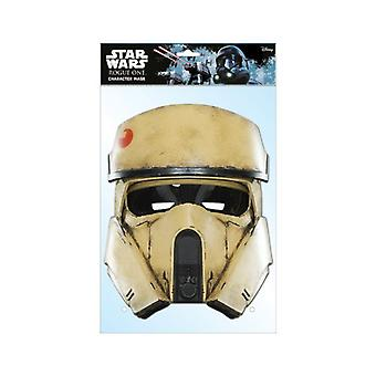 Shoretrooper Rogue One: A Star Wars Story Single 2D Card Party Fancy Dress Mask