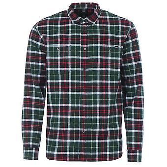 Edwin Labour Check Flannel Shirt - Black & Green