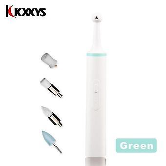 تبييض الأسنان متعدد الوظائف الكهربائية الأسنان المصقول odontologia إزالة الأوساخ الأسنان|تيث تبييض الأخضر