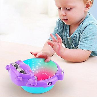 Interlocking blocks baby musical drum instruments with light and sounds sorting stacking toys |toy musical instrument