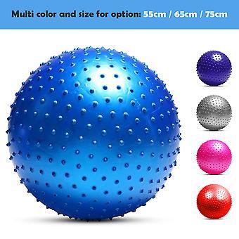 חלקיקי כדור יוגה עם משאבת אוויר נגד פרץ יציבות איזון כדור פילאטיס תרגיל כושר גופני