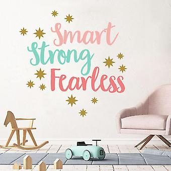 Kleur inspirerende Engels motto muurstickers klaslokaal decoratie