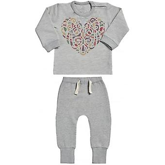 Spoilt Rotten Hearty Colour Sweatshirt & Joggers Baby Outfit Set