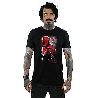A último Jedi guarda pretoriana Star Wars masculino escovado t-shirt