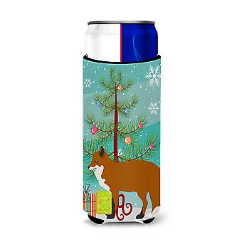 Red Fox Christmas Michelob Ultra Hugger for slim cans